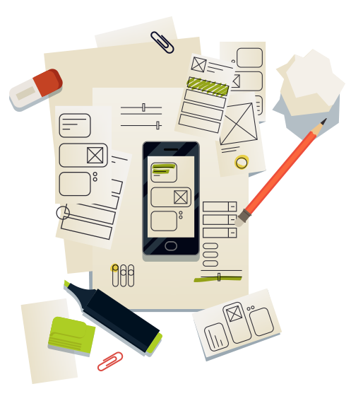 app planning graphic