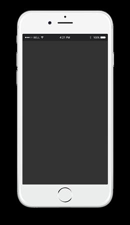 iphone web design example